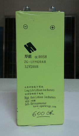 Bateria de litio 20 amperes 3,2v