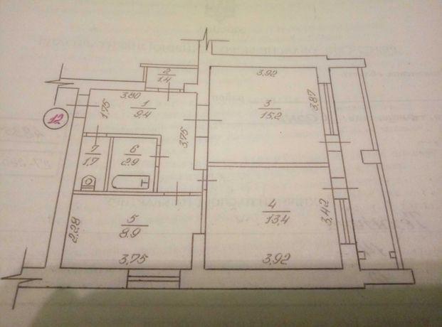 Квартира.2-комн. Удобная планировка с лоджией