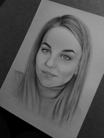 Портрет. Рисунок карандашом. Малюнок олівцем