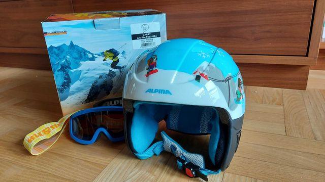 Kask narciarski dziecięcy Alpina Carat 54-58 cm. + GOGLE