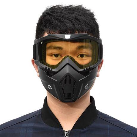 Шлем, очки, маска. Мотоциклетная маска и очки. Лыжная маска и очки