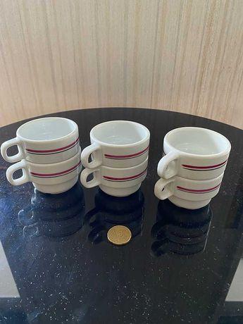 Conjunto de 6 chávenas de café Spal