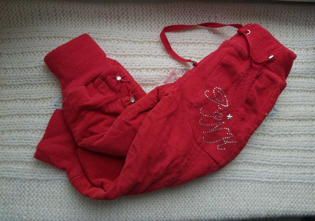 Вельветовые утеплённые штаны