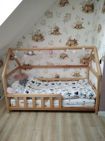 Łóżeczko dla dzieci domek skandynawskie drewniane