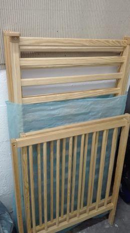 Cama de grades berço para bebé madeira