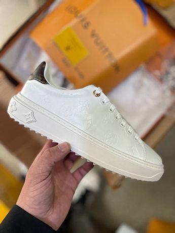 Женские кроссовки Louis Vuitton white кожаные луи витон белые кеды