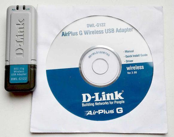 Универсальный беспроводной USB WIFI адаптер D-Link DWL-G122 802.11g