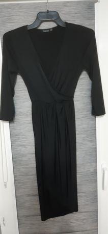 Sukienka czarna elastyczna Boohoo
