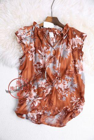 Блузка женская шифоновая с майкой 14-16 размер