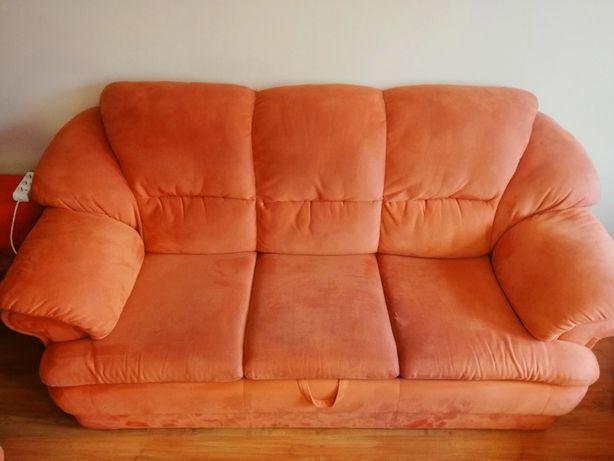 Komplet wypoczynkowy- fotel i 2 rozkładane sofy!