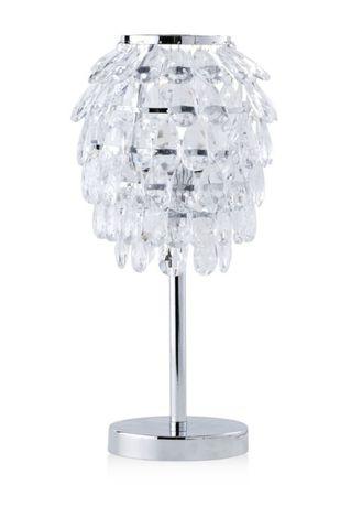 Lampa stołowa z kryształkami. Nowa