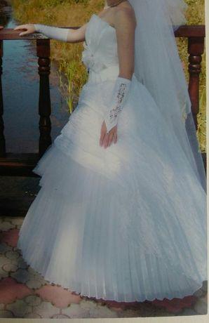 свадебное платье, весільна сукня (корсет та спідниця)