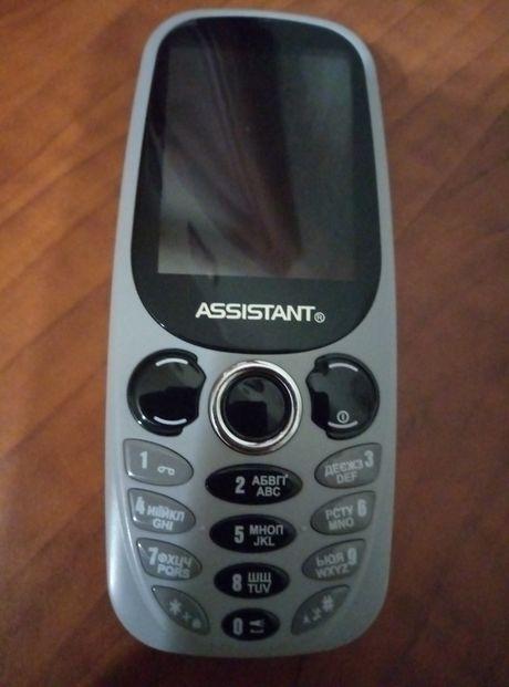 Новый Мобильный телефон Assistant АS 201на две симки с камерой+подарок