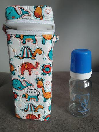 Termoopakowanie na butelkę + butelka 120ml Canpol babies