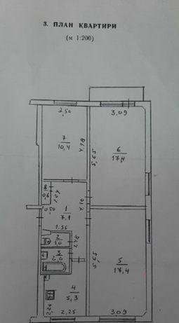 Продам 3-х кімнатну квартиру в р-ні товарного двору