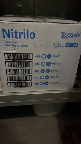 Luvas Nitrilo s/po azuis