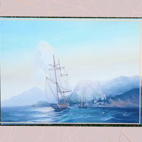 Картина маслом,по мотивам Айвазовського,море