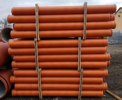 Rura kanalizacyjna zewnętrzna Ø 160, I gatunek pomarańczowa