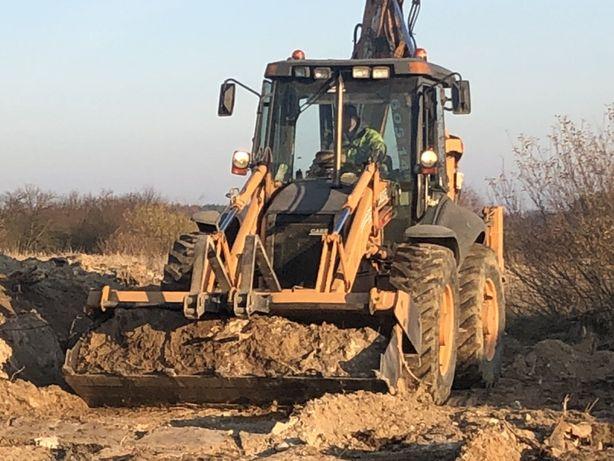 Usługi ziemne kopanie fundamentów odwodnienia równanie terenu wywrotka