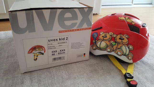 Kask rowerowy dziecięcy Uvex kid 2 dla chłopca lub dziewczynki 46-52cm