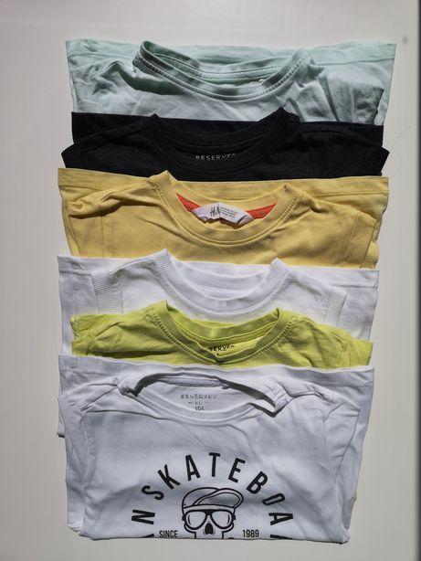 Sprzedam bluzeczki z krótkim rękawem RESERVED, H&M, r. 104