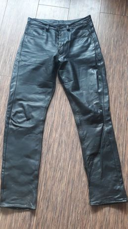 Spodnie skórzane czarne