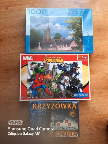 Puzzle zestaw Spider-Man +gra słowna krzyżówka