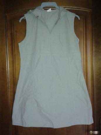 Szara sportowa sukienka XS z kapturem