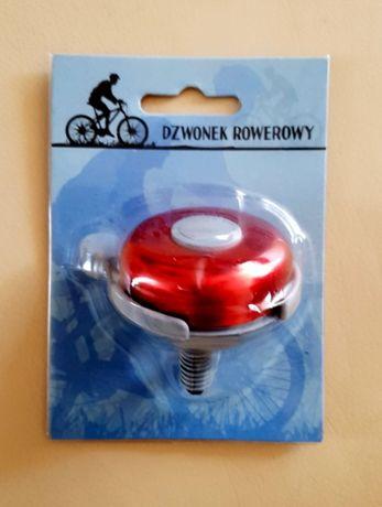 Dzwonek rowerowy czerwono-szary nowy
