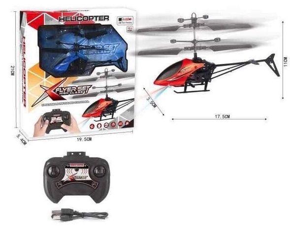 Вертолёт на р/у встроенный аккумулятор, гироскоп,