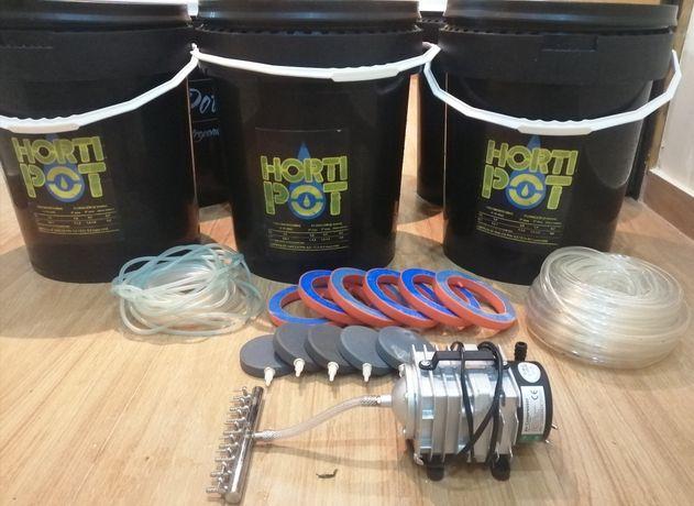 Kit 6 Hortipot 25L (DWC/Bubbler)
