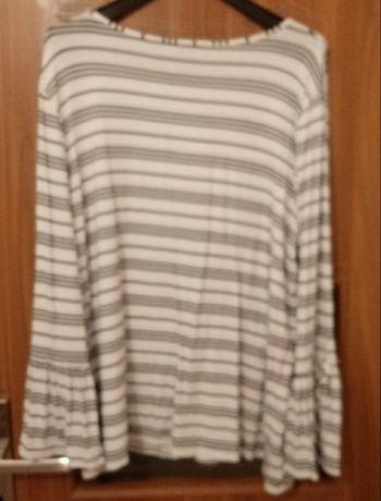 Duża bluzka biało-czarna rozm.48