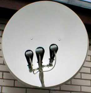 Спутниковая тарелка (3 головки) + тюнер. Днепр. Самовывоз!
