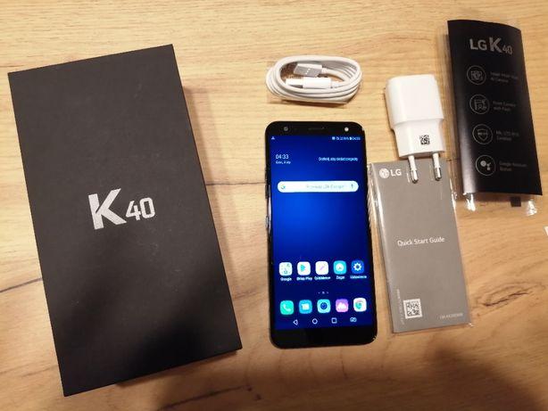 NOWY telefon LG K40 niebieski