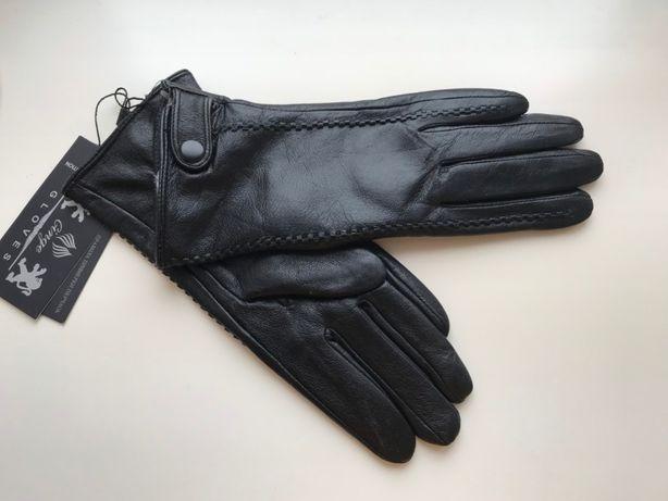 Стильные кожаные перчатки, Румыния. Утеплены