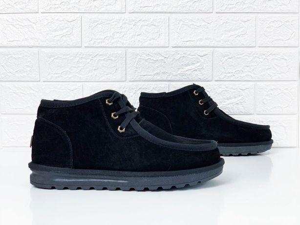 Мужские ugg на шнуровке угги на шнурках зима ботинки низкие ugg