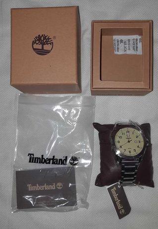 Relógio Timberland Novo Prateado e Bege De Aço