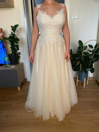 Suknia ślubna, szyta na miarę, roz 38
