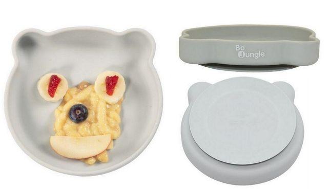 Talerzyk silikonowy talerz z przyssawką Bo Jungle