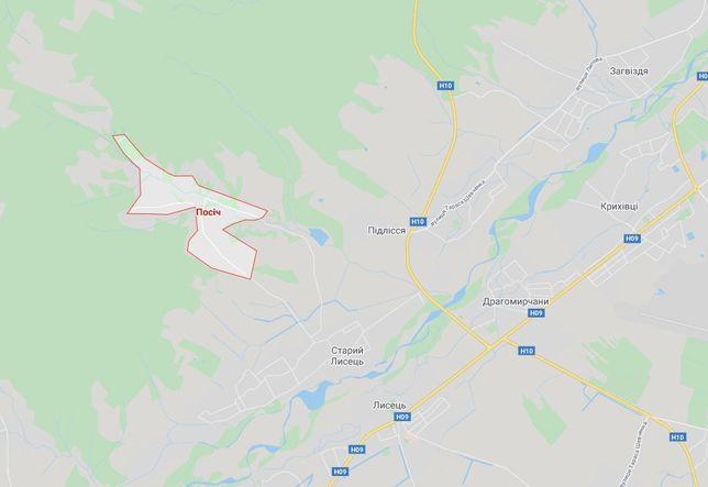 Земельна ділянка під забудову с.Посіч, 10 км від Івано-Франківська