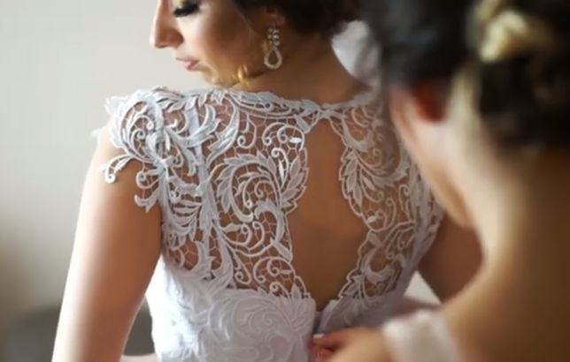 Różowa - suknia ślubna