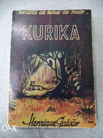 Livro Kurika - Romance dos Bichos do Mato 1980 Henrique Galvão