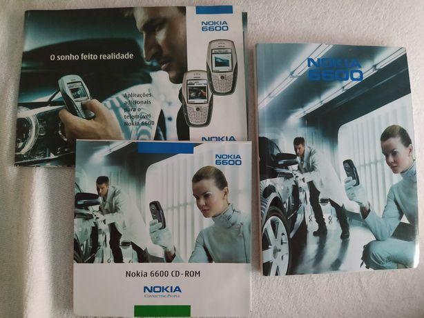 Manuais e CD - Nokia 6600