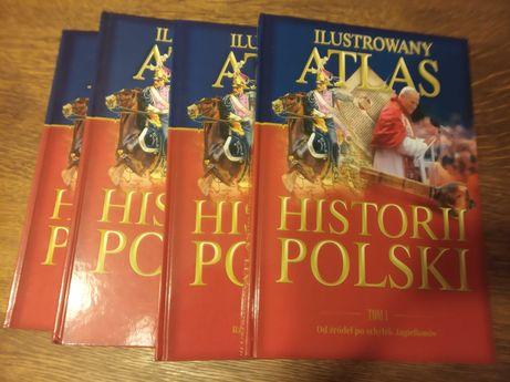 Ilustrowany Atlas historii Polski -komplet czterech części