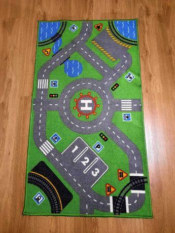 STORABO dywanik dla dzieci-zielony ulice,chodniki. IKEA
