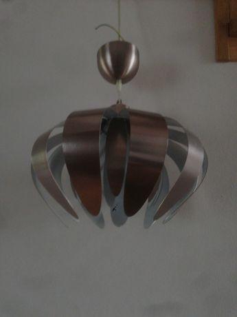 Żyrandol metaliczny inox