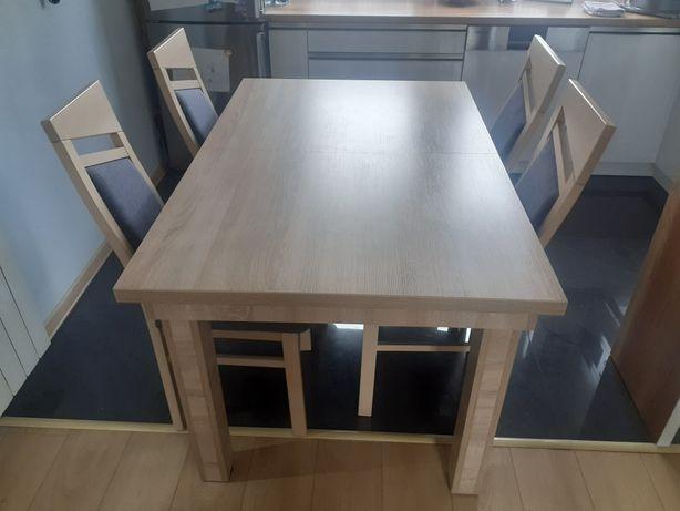 Stół plus 4 krzesła  dąb sonoma