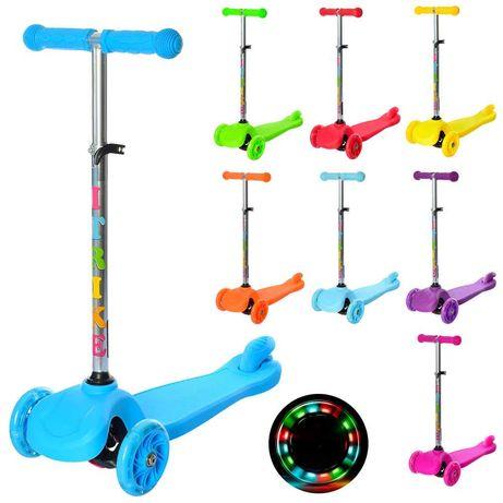 Самокат детский со светящимися колесами