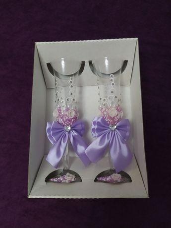 Весільні бокали фужери, свадебные бокалы