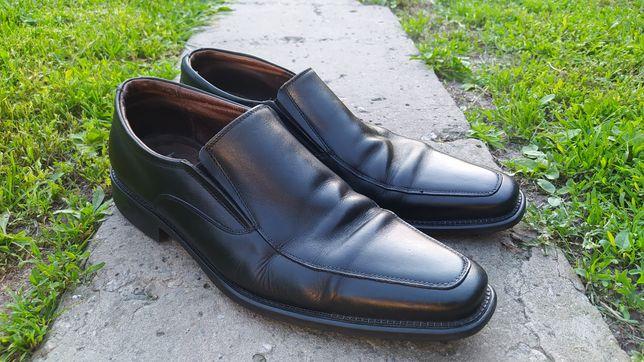 Туфли Nord кожаные чёрные (броги, дерби, лоферы, оксфорды) 44